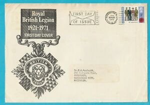 UK Royal British Legion 1921-71 FDC 1971 Posted to Australia XL
