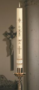 """2"""" x 36"""" Ornamented Paschal Candle 51% Beeswax"""