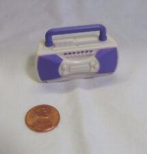 FISHER PRICE Loving Family Dollhouse White Purple RADIO BOOM BOX Stereo System