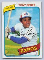1980  TONY PEREZ - Topps Baseball Card # 125 - MONTREAL EXPOOS