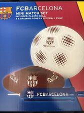 NUOVO FCB FC Barcelona Football Gift Set Foot Ball Palla Pompa & Coni di formazione