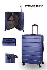 Franky ABS13 Reisekoffer Gr.L, 4x360° Doppelrollen, TSA-Schloss, dunkelblau