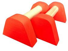 Orange Mini PBarZ® Wooden Parallettes Handstand Gymnastics Yoga fit Bars