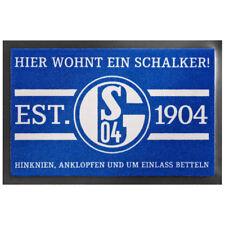 FC Schalke 04 Fussmatte Hier wohnt ein Schalker 40 x 60