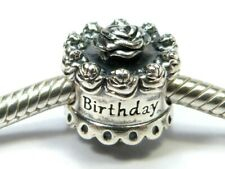 GENUINE PANDORA 925 ALE STERLING SILVER HAPPY BIRTHDAY CAKE CHARM BEAD 791289