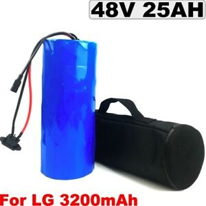 Lithium Ion Li-ion Battery 48V 25AH Rechargeable Electric E Bike Bicycle Scooter