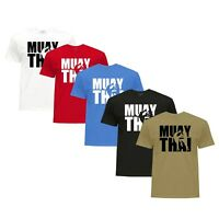 Camiseta Muay Thai MMA Kick Boxing Boxeo T shirt Top Muay Thai 100% Algodon