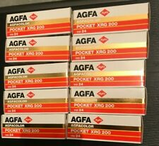10x Agfa Pocket XRG 200 110mm Expired film Lomo rare