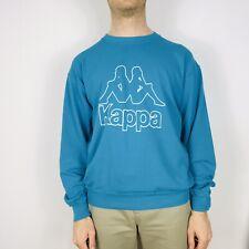 Vintage KAPPA Sport Men's Medium Green Spell Out Long Sleeve T-Shirt Retro