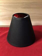 "New Clip-On Fabric Cone Lamp Shade Black w Gold Shiny Interior 5"" x 6"" x  3"""