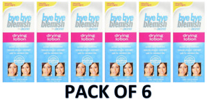 Pack Of 6  Bye Bye Blemish For Acne Drying Lotion 1 Oz