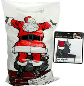 4 x Giant Santa Sacks Stocking Christmas Extra Large Xmas Gift Kids Present Bag