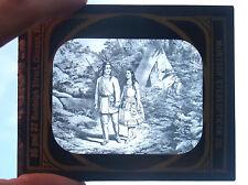 ANTIQUE MAGIC LANTERN SLIDE NATIVE AMERICAN INDIAN HIAWATHA T.H. MCALLISTER