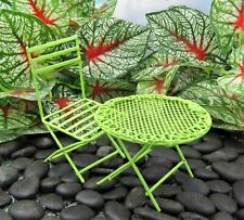 Miniature Fairy Garden Green Metal Table & Chair Set - Buy 3 Save $5