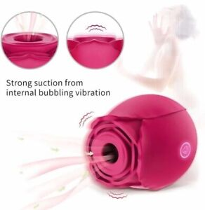 *US STOCK* Waterproof Clit Pump Sucking Rose Vibrator Dildo Sucker Sex toy Women