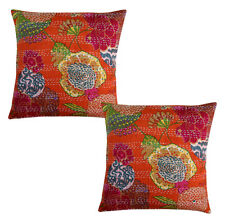 Kantha Fruit Print Home Decor Cushion Cover, Pillow Cover, Case Cover Hand stich