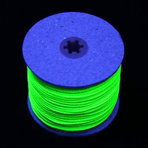 10m UV Leuchtschnur 0,60€/m GOA 5mm Deko Schwarzlicht UV-aktiv Neon Kordel Band