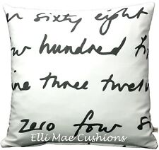 Luxury Ikea Words Fabric Black White Cushion Pillow Throw Cover