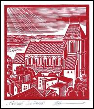 Leonenko Vasyl 1991 Exlibris X3 Project Architecture Toruń Church p6