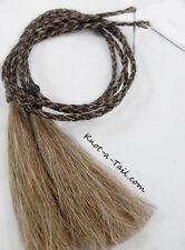 Cowboy hat horsehair stampede string cotter-pin BOLD Sorrel n Black horsehair