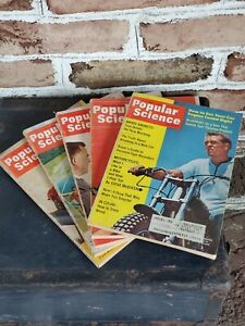 (5) Vintage POPULAR SCIENCE magazines  Steve McQueen cover 1966 + 4 others lot