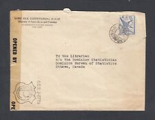 JAPAN 1940s WWII CENSORED COVER KOBE TO OTTAWA CANADA