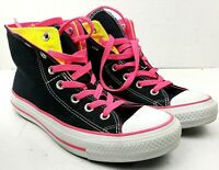 Converse Chuck Taylor All Star High Top Canvas M6-W8 Shoes Black Pink Yellow