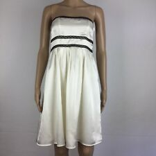 Pilgrim Cream Strapless Dress Size Size 10 (AK16)