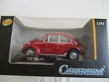 MINIATURE VOLKSWAGEN COX VW BEETLE ROUGE CARARAMA       1/43