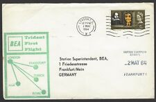 BEA Trident First Flight cover 1964 London to Frankfurt Germany