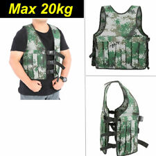 20KG/44lbs Weighted Vest Jacket Adjustable Body Workout Exercise Boxing Training