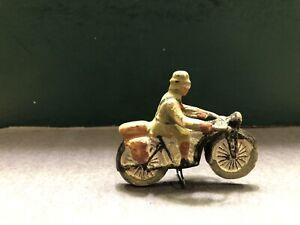 Elastolin: German Motorcyclist. 4cm Scale. Pre War c1940
