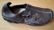 Clarks Momo Spirit Shoes in Ebony/Dark Brown Leather - Size UK7 (EU41 / UK8)