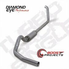 "Diamond Eye 4"" Aluminized Turbo-Back Exhaust Kit 99-03 Ford F250 F350 SD K4318A"