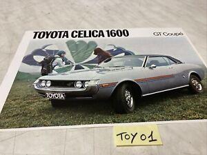 Toyota Celica 1600 GT coupé catalogue prospectus brochure de vente publicité