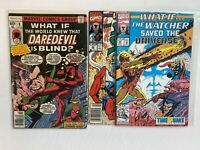 What If Lot of 3 Comics: 8 22 39 Daredevil Silver Surfer Iron Man Marvel