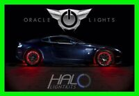 RED LED Wheel Lights Rim Lights Rings by ORACLE (Set of 4) for MITSUBISHI