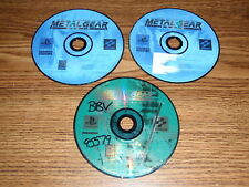 Metal Gear Solid & MGS VR Missions Sony Playstation PS1 Video Games DISCS ONLY