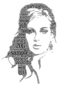 word art picture personalised gift present keepsake Adele mum sister auntie bday