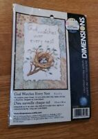 Dimensions God Watches Over Every Nest Cross Stitch Pattern 65081 NEW
