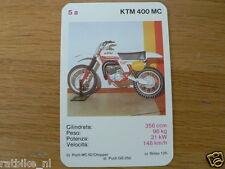 EASY RIDER 5A KTM 400MC CROSS KWARTET KAART, QUARTETT CARD,SPIELKARTE