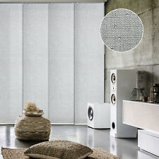 Gray Adjustable Sliding Panel Track Shade Vertical Blind Panel Curtain