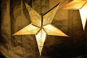 Handmade Paper Star Design Multi-Color Light Shades Pack Of 4 For Home Décor