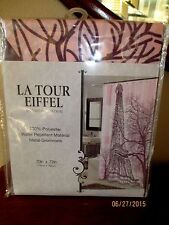 PARIS EIFFEL TOWER SHOWER CURTAIN - NEW -  70 X 72 INCH