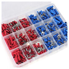 360 ASSORTED INSULATED ELECTRICAL WIRE TERMINALS CRIMP CONNECTORS SPADE KIT BOX