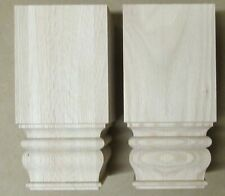 """Set of 4 Unfinished Square Tavern Turned Sofa Leg - 10"""" Tall x 5"""" Wide Red Oak"""