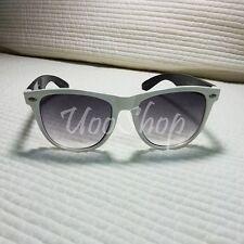 KOREAN Hot Fashion white frame Women Men's black Lens Sunglasses