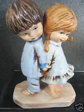 Gorham Moppets 1971 KIDS IN PJ'S BACK TO BACK figurine