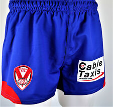 ST HELENS FOOTBALL CLUB SUPERLEAGUE player issued AWAY MATCH SHORTS Mens Size M