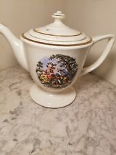 Vintage Homer Laughlin Romeo & Juliette Teapot Made USA H51N6 Estate Tea Pot